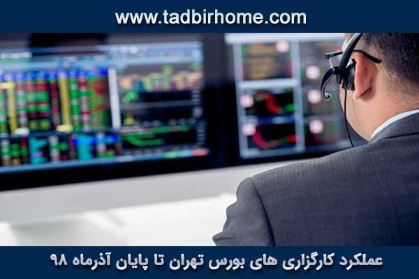 عملکرد کارگزاری های بورس تهران