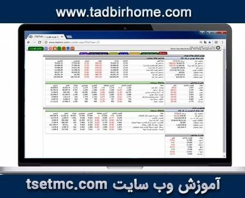 آموزش وب سایت مدیریت فناوری بورس تهران